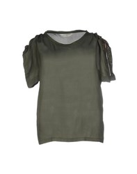 Golden Goose Shirts Blouses Women Military Green