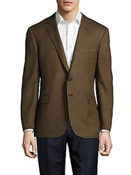 Ralph Lauren Long Sleeve Italian Wool Blend Jacket Light Brown