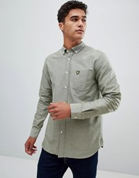 Lyle And Scott Buttondown Shirt In Pale Green