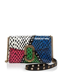 Marc Jacobs St. Snake Embossed Leather Clutch Black Multi Gold