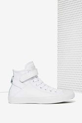 Nasty Gal Chuck Taylor Brea Leather Sneaker White