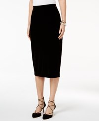 Alfani Velvet Pencil Skirt Only At Macy's Deep Black