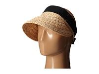 Karen Kane Raffia Visor Natural Navy Casual Visor Neutral