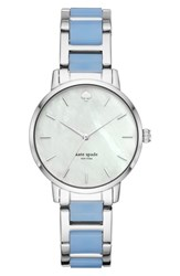 Kate Spade New York Metro Bracelet Strap Watch 34Mm Blue Mop Silver