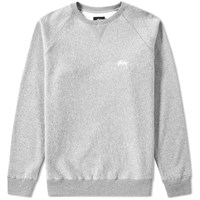 Stussy Stock Raglan Crew Sweat Grey