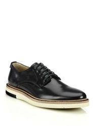 Fendi Leather Lace Up Hunting Shoes Black