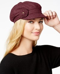 August Hats Worth It Flower Newsboy Cap Burgundy