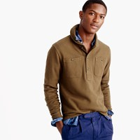 J.Crew Wallace And Barnes Lightweight Fleece Shawl Henley Pullover