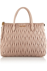 Miu Miu Matelassa Leather Tote