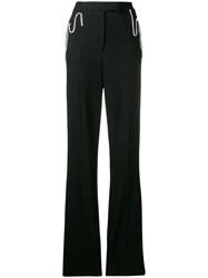Christopher Kane Squiggle Cupchain Tailored Trouser Black