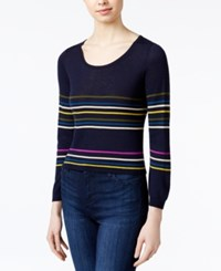 Rachel Roy Striped Sweater Only At Macy's Indigo Combo