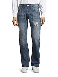 Buffalo David Bitton Evan Distressed Bootcut Jeans Sander
