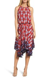 Maggy London Women's Ikat Print Fit And Flare Dress