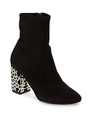 Via Spiga Side Zipper Almond Toe Ankle Boots Black