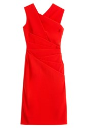 Preen By Thornton Bregazzi Draped Dress Red
