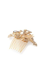 Dolce And Gabbana Crystal Embellished Hair Slide Gold