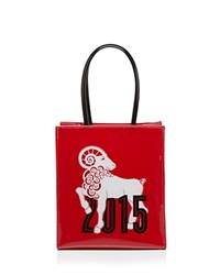 Bloomingdale's Tote Year Of The Ram Chinese New Year Small Red