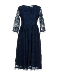 Brigitte Bardot Knee Length Dresses Blue