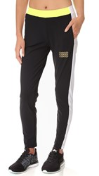 Monreal London Side Panel Track Pants Black White