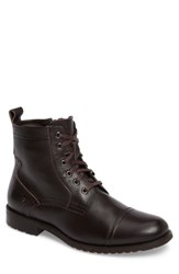 English Laundry Men's Cap Toe Boot Brown Leather