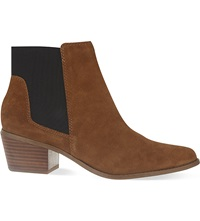 Miss Kg Spider Suede Ankle Boots Tan