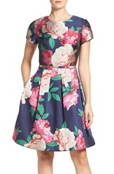 Eliza J Women's Floral Print Fit And Flare Dress