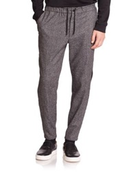 Public School Basic Tuxedo Striped Track Pants Grey
