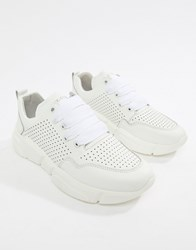 Bronx Leather Runner Trainers White