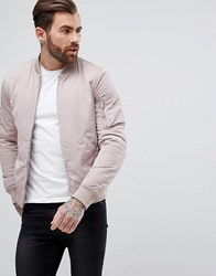 New Look Bomber Jacket With Ma1 Pocket In Light Pink Light Pink