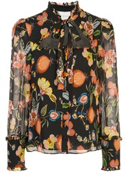 Alexis Floral Print Cut Out Blouse 60