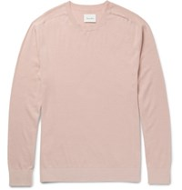 Steven Alan Slim Fit Cotton And Cashmere Blend Sweater Pink