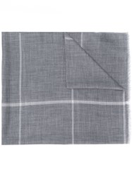 N.Peal 007 Fine Gauge Checked Scarf 60
