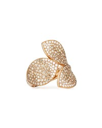 Giardini Segreti 18K Rose Gold Diamond Leaf Ring 2.35 Cts. Pasquale Bruni