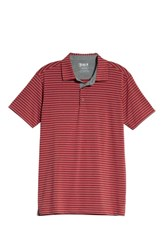 Bobby Jones Control Stripe Jersey Polo Red