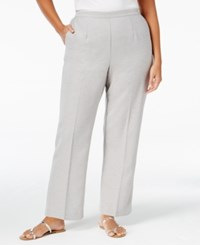 Alfred Dunner Plus Size Veneto Valley Collection Pull On Pants Grey Heather