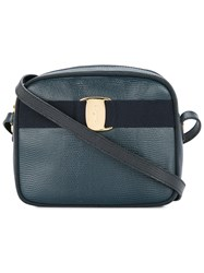 Salvatore Ferragamo Vintage Vara Shoulder Bag Blue