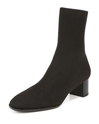 Via Spiga Verena Stretch Knit Booties Black