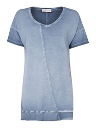 Label Lab Ash Jersey Rib Mix Tee Blue