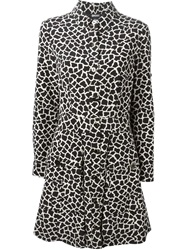 Dkny Giraffe Print Shirt Dress Black