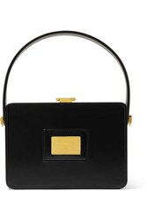 Tom Ford Box Small Leather Tote Black