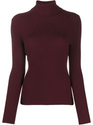 3.1 Phillip Lim Ribbed Roll Neck Jumper Red