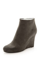 Jil Sander Suede Wedge Booties Grey
