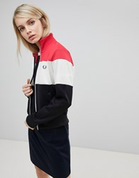 Fred Perry Colour Block Track Jacket 608 Navy