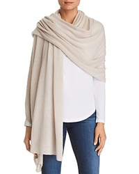 Bloomingdale's C By Lightweight Cashmere Travel Wrap 100 Exclusive Heather Oatmeal