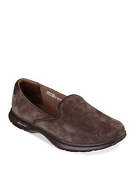Skechers Go Step Suede Loafer Chocolate