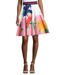 Alice Olivia Earla High Waist Flare Skirt Multi