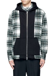 The World Is Your Oyster Check Plaid Hooded Fleece Shirt Jacket Multi Colour