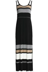 Bailey 44 Striped Stretch Jersey Maxi Dress Black