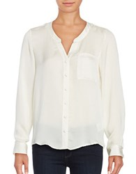 Vero Moda Button Front Shirt White