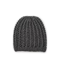 Barneys New York Herringbone Stitch Cashmere Beanie Dark Gray